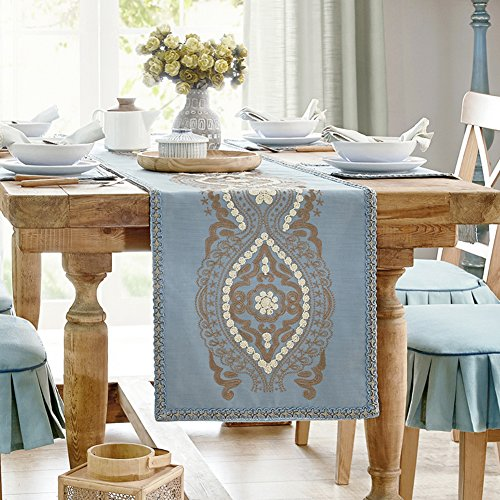 JINGJIE Simple dining table Decoration Table runner,chinese style crafts Table runner Flax Tea table Table runner-A 40x250cm(16x98inch) by JINGJIE