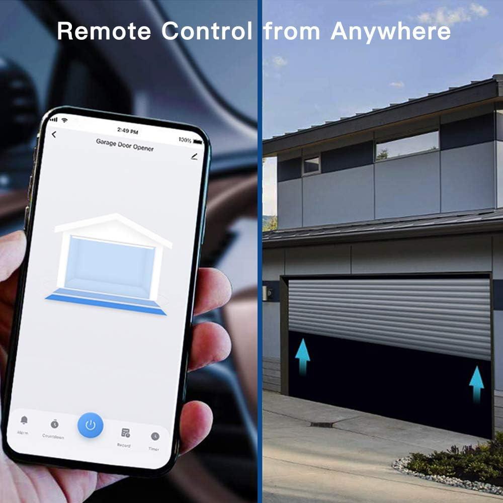 WLAN Fernsteuerung mit smart life App Smart Garagentor/öffner Sprachsteuerung kein Hub erforderlich