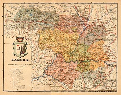 zamora-castilla-y-len-mapa-antiguo-de-la-provincia-alberto-martin-c1911-old-map-antique-map-vintage-
