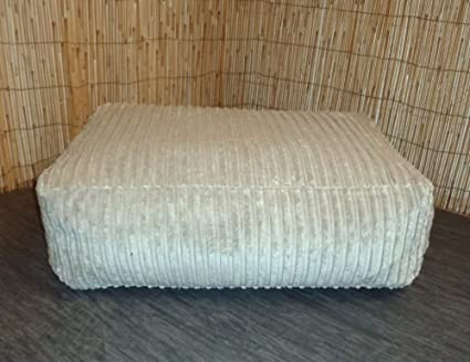 Strange Zippy Washable Beige Jumbo Cord Bean Bag Footstool Cube Machost Co Dining Chair Design Ideas Machostcouk