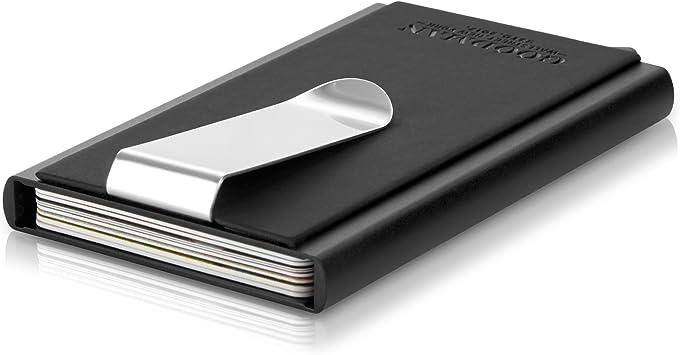 3.Estuche para tarjetas con clip para dinero y protección RFID y NFC | Estuche para