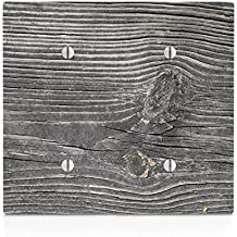 Wood with Texture on Wooden Old Vintage Background Pattern Double Blank Electrical Switch Plate