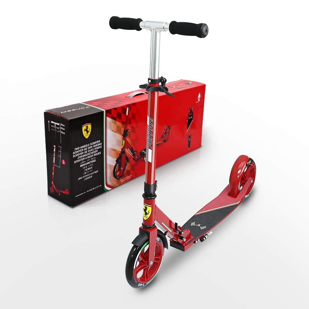 marcas de diseñadores baratos Ferrari Niños Roller City Patinete Plegable para Jóvenes Jóvenes Jóvenes y Niños MAX. 100 kg, Color Negro, Rojo, 145mm  salida de fábrica