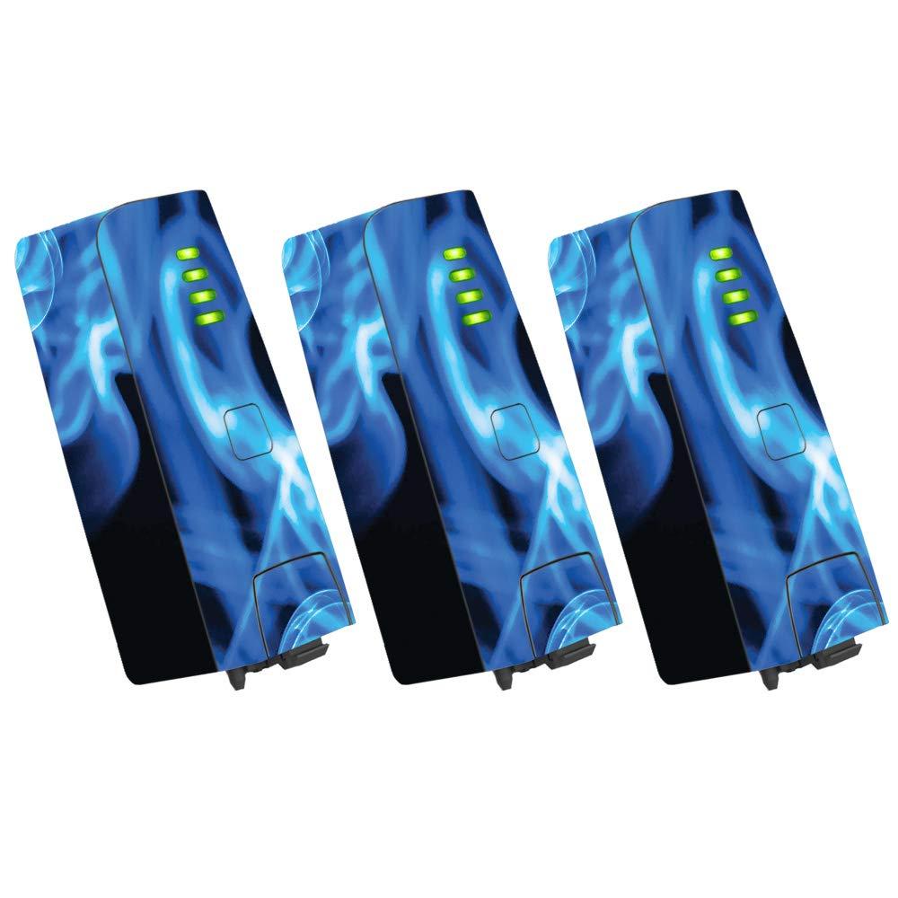 MightySkins スキンデカールラップ オウムステッカー保護カバー 100色展開 Parrot Bebop 2 PABEBOP2-2Mixtape B07H9H4YQV 3 pack Of Battery Skin Only|Blue Flames Blue Flames 3 pack Of Battery Skin Only