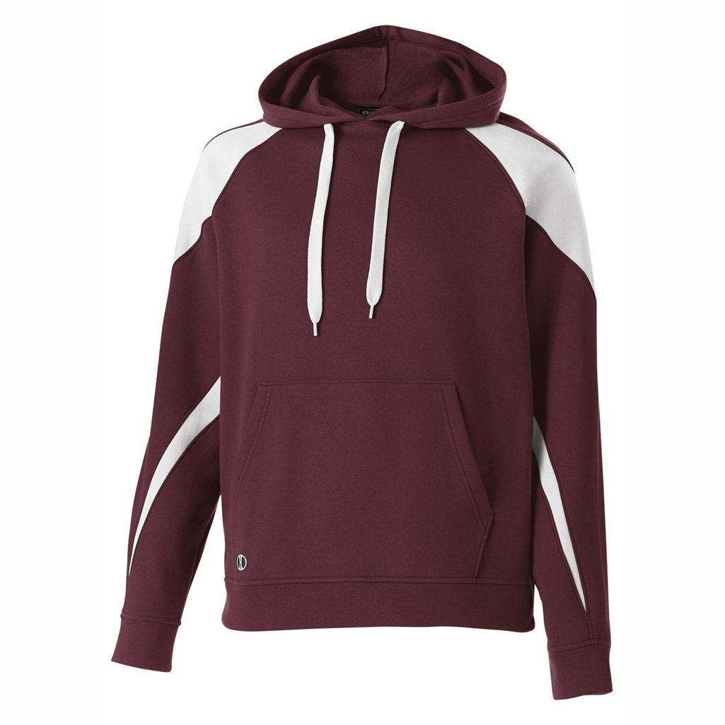 Holloway Youth Prospect Hoodie (X-Large, Maroon/White) by Holloway