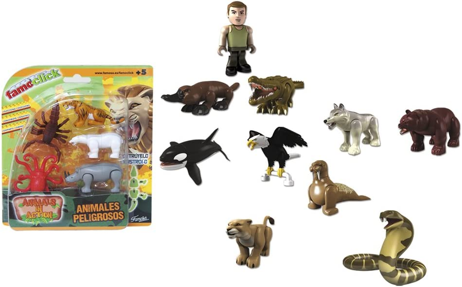 Famoclick - Pack de 5 Figuras Animals in Action (Famosa 700010627 ...
