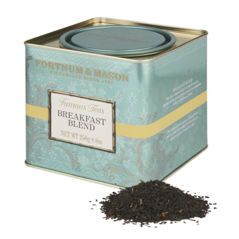 Fortnum and Mason British Tea, Breakfast Blend 250g Loose English Tea in a Gift Tin Caddy (1 Pack)
