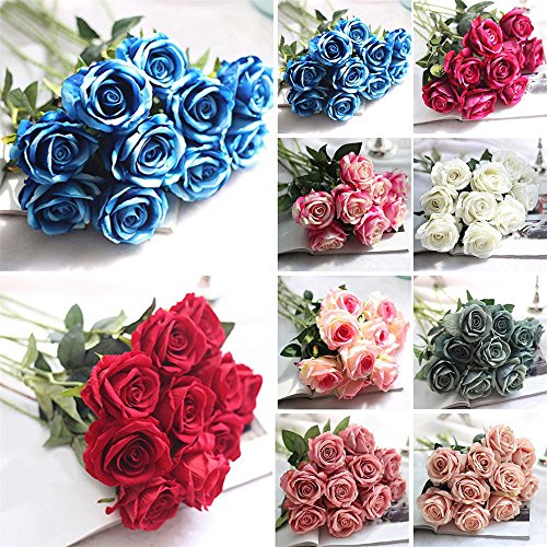 EOPER-6-Pack-Artificial-Fake-Vintage-Peony-Silk-Rose-Flower-Bush-Bouquet-for-Home-Kitchen-Decor-Wreath-Wedding-Centerpieces-Champagne