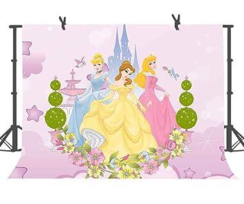 10 x 7 pies Disney Castle Fondo Dibujos Animados Personajes Princesa Fotografía Fondos para Niños Fiesta