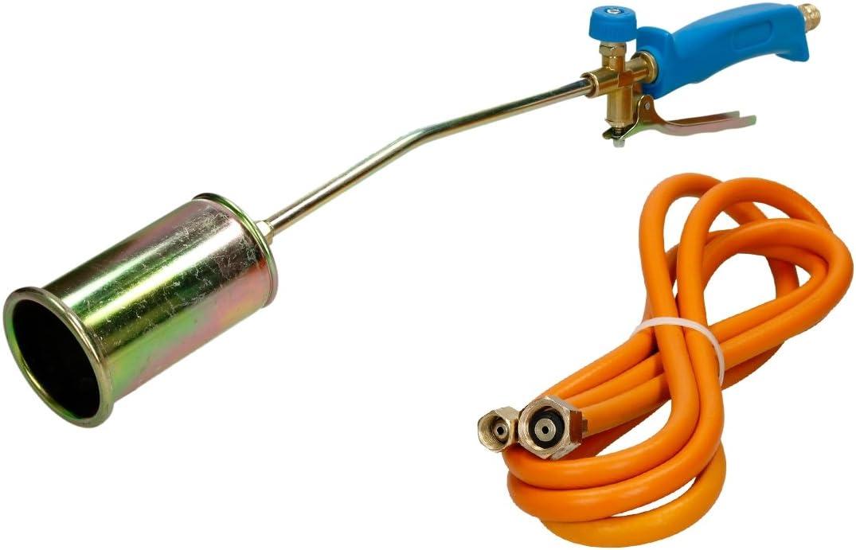torche /à gaz d/ésherbeur thermique avec un tuyau de gaz propane de 5 m ECD Germany Chalumeau /à gaz Puissance de combustion de 58 kW