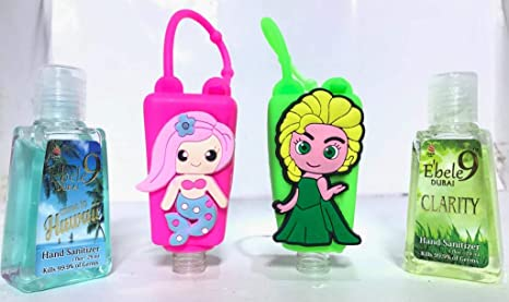 Buy Ebele9 Pink Mermaid Princess Two 30ml Hand Sanitizer Bottles