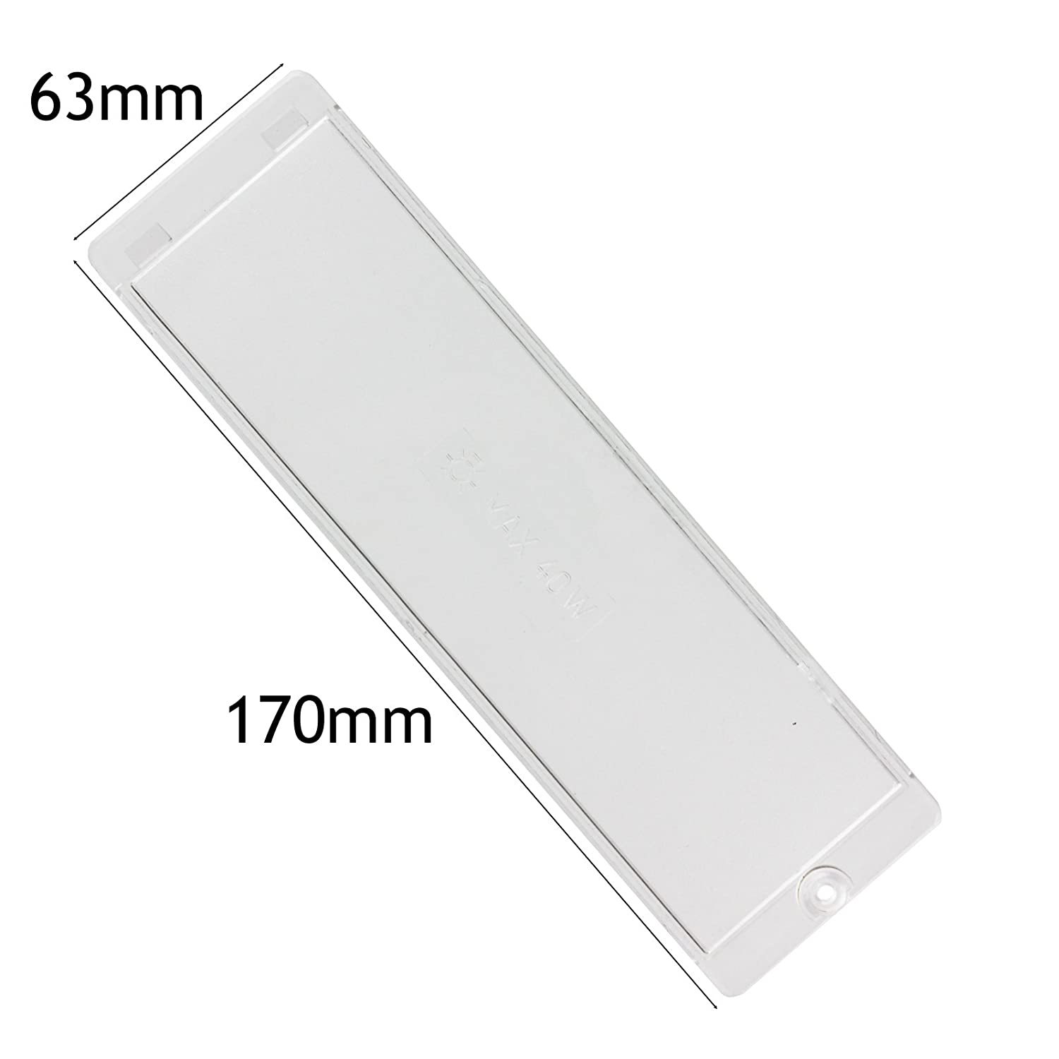 SPARES2GO Cooker Hood Light Diffuser/Lens Cover Plate (170mm x 63mm)