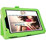 """CaseGuru TESCO HUDL 2 Tablet Case - Green Case / Cover / Skin with Built-In PropUp Stand (Dual Angle for Viewing & Typing Positions) - fits Tesco Hudl 8.3 inch Tablet Stylus Pen(Tesco's second generation 8"""" Tablet - Released in 2014)"""