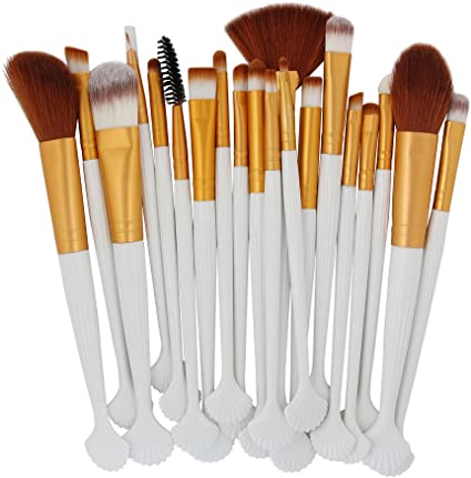 Set de brochas de maquillaje profesional 20 piezas,ZARLLE brochas para maquillaje facial,brocha para base de maquillaje,Sombra,ceja,ojo,Labios,colorete (Una talla, G): Amazon.es: Belleza