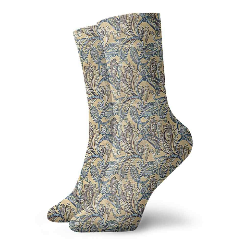 Socks Cute Paisley,Old Asian Motifs Teardrop Sock for Male Party Gifts