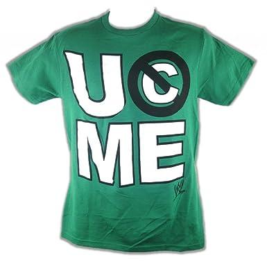 John Cena U Cant See Me Green WWE Mens T-shirt