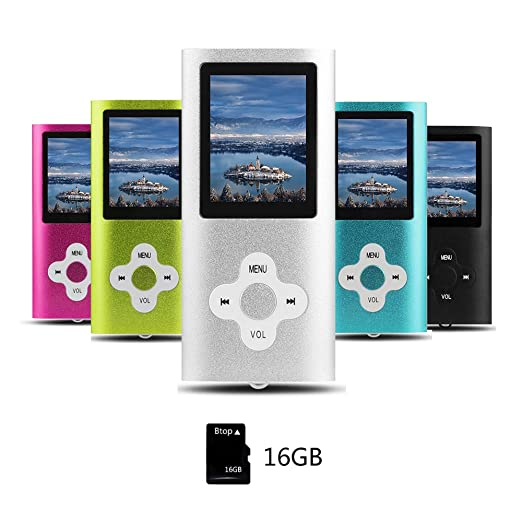 78 opinioni per Btopllc Lettore mp3, mp4 player, giocatore 16gb musica digitale interno memory