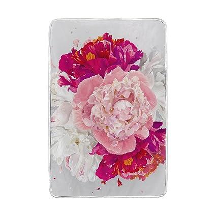 Amazon.com: U vida agua artista de colores rosas manta suave ...