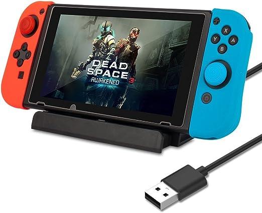 AGPtek Estación de Carga para Nintendo Switch, Base de Montaje y ...