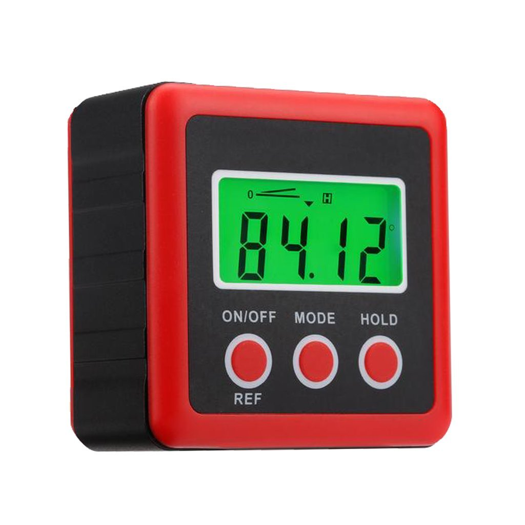 Homyl Digital Mini Angle Gauge Magnetic Base Angle Protractor Level Inclinometer