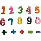 Elaco 15pcs Magnetic Wooden Numbers Math Set Digital Baby Educational Toy