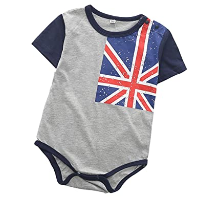 861d133f4264 Lavany Baby Romper Infant Boys Girls Cute Stripe Cotton 4th of July  Jumpsuit Clothes (0