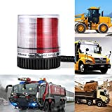 Gledto Emergency Warning Strobe Lights 12V LED Beacon Flashing Vehicle Light with Powerful Magnetic Base for Cars and Trucks- White & Red