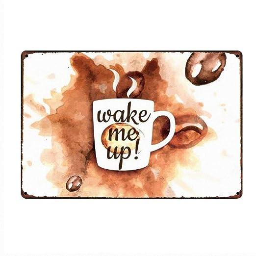 Coffee Creak Time Cartel de Pared de Pintura de Hierro ...