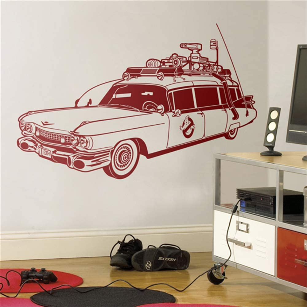 gafuen Wall Decor Stickers for Living Room Ecto-1 Ghostbusters for Living Room Bedroom
