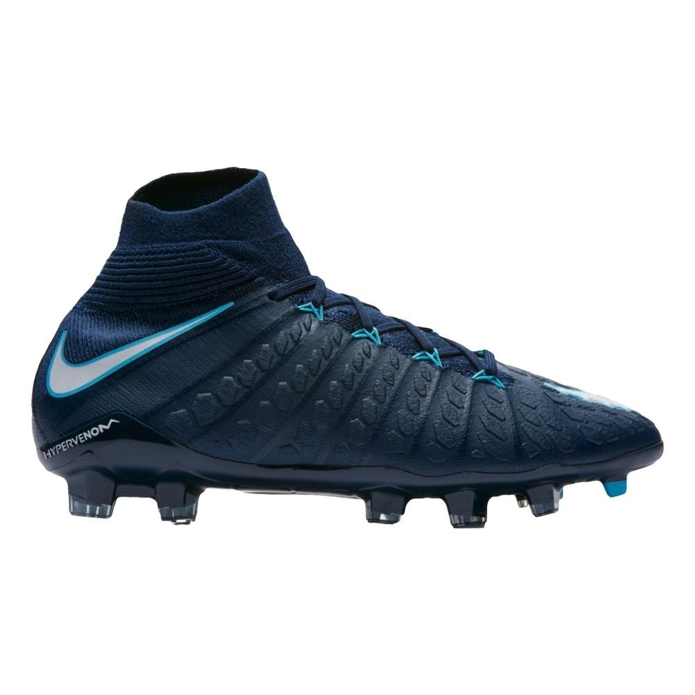 NIKE Youth Hypervenom Phantom III DF FG Cleats [Obsidian] (4.5Y)