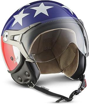 Soxon Sp 325 Usa Jet Helm Motorrad Helm Roller Helm Scooter Helm Moped Mofa Helm Chopper Retro Vespa Vintage Pilot Biker Helmet Brille Ece 22 05 Visier Schnellverschluss Tasche Xs 53 54cm Auto