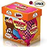"""Whoopee Cushion Self Inflated 7"""" Set of 3 Gift Box Fart Prank Gag Novelty Trick Joke Toy for Kids Children Adults Office Home or Party by Kipi Toys"""