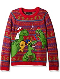 Boys' Three Wise Raptors Xmas Sweater