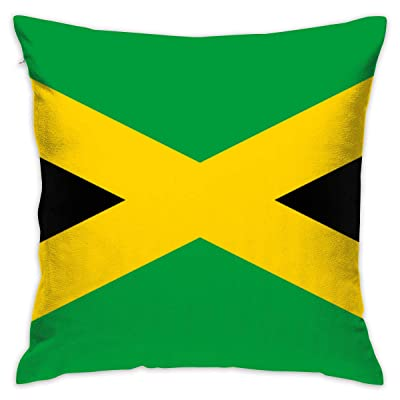NuanYang Jamaican Flag Pillow Case Outdoor Decoration Cushion Case Event & Party Supplies 45 × 45: Home & Kitchen