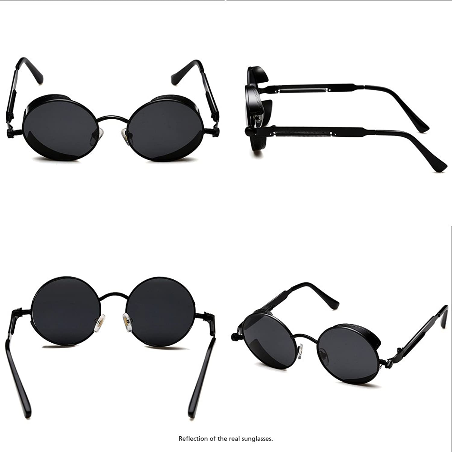 36e5ddc2871 ROCKNIGHT Gothic Steampunk Polarized Sunglasses For Men Women UV Protection  Metal Frame A372