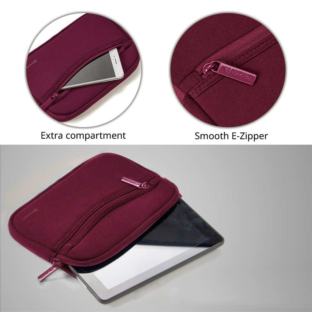 Magellan and More 6-7 inch Red Tomtom Evecase GPS Navigation Smile Neoprene Pouch Sleeve Case for Garmin n/üvi 6-7in GPS Case