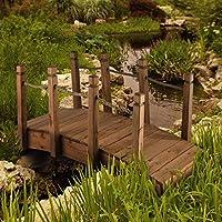Blumfeldt Rialto Puente de jardín Puente Decorativo (Madera de Pino Maciza, Resistente a la Intemperie, tamaño 58x58x122cm): Amazon.es: Jardín