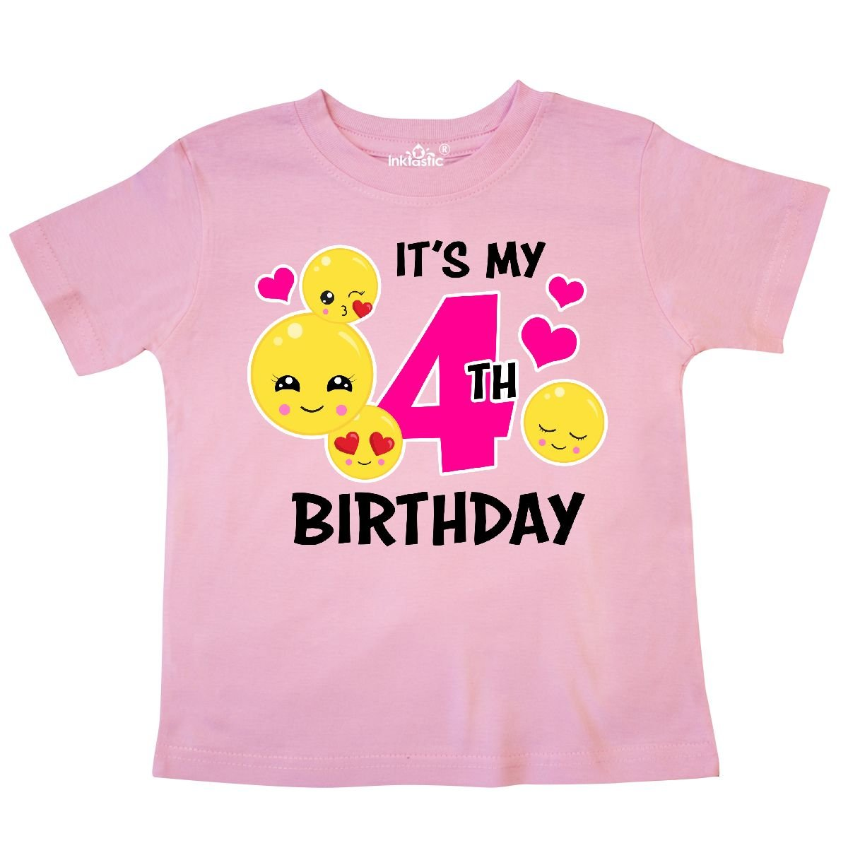 inktastic Its My 4th Birthday with Emojis Toddler T-Shirt