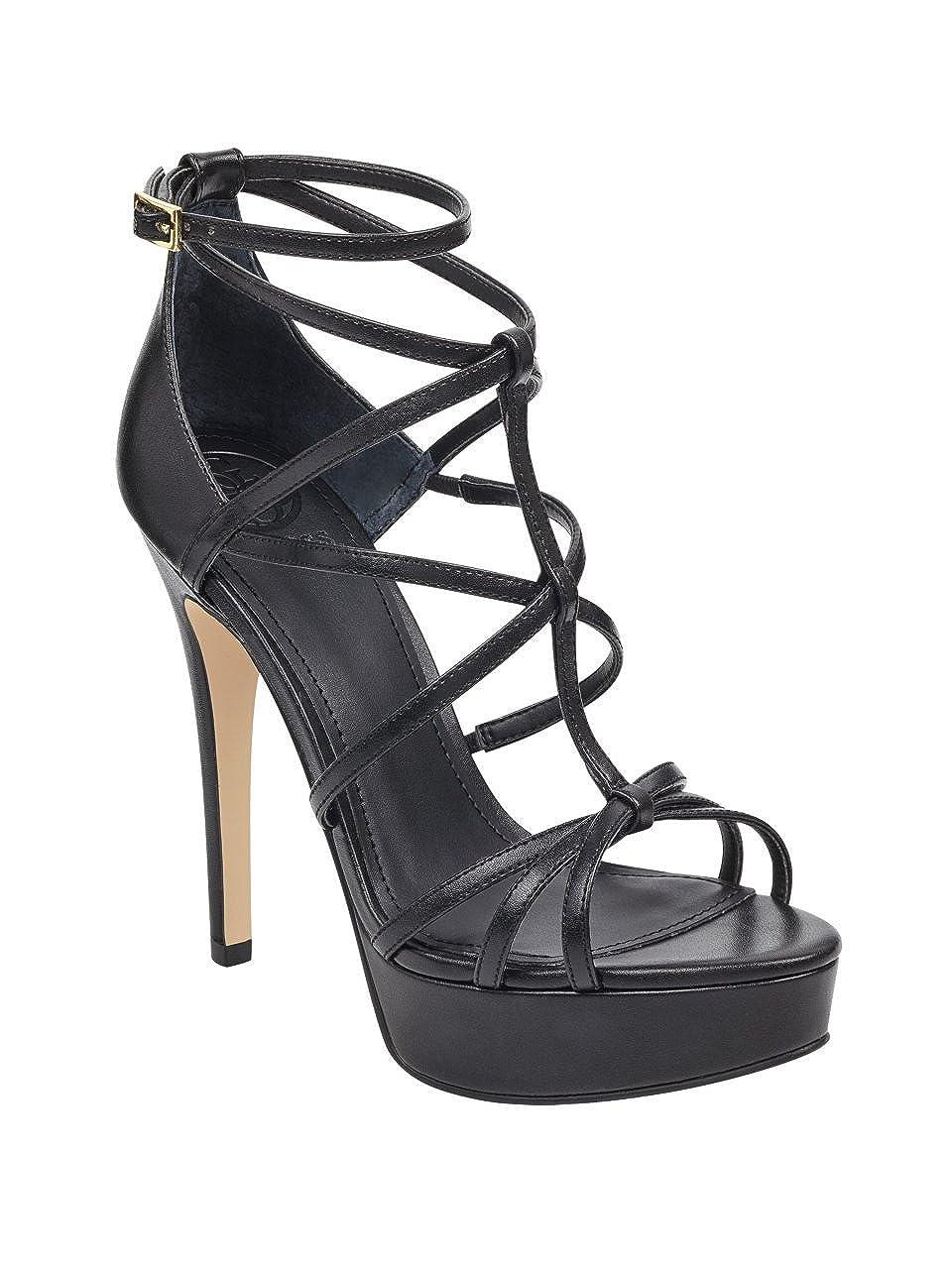 Black Multi GUESS Womens Kico Heeled Sandal