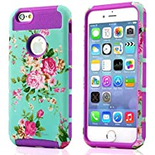iPhone 4S Case, iPhone 4 Case, TPU + Pc Dual Layer Hybrid Fashion Shockproof Soft Hard Defender Case Cover for Apple iphone 4/ 4S (Orchid-purple)