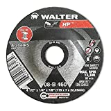 Walter HP Grinding Wheel, Type 27, Round Hole, Aluminum Oxide, 4-1/2'' Diameter, 1/4'' Thick, 7/8'' Arbor, Grit A-24-HPS (Pack of 25)