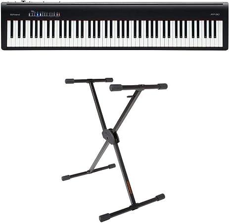 Roland Roland FP-30 - Piano digital (negro) con soporte único ajustable Roland KS-10X
