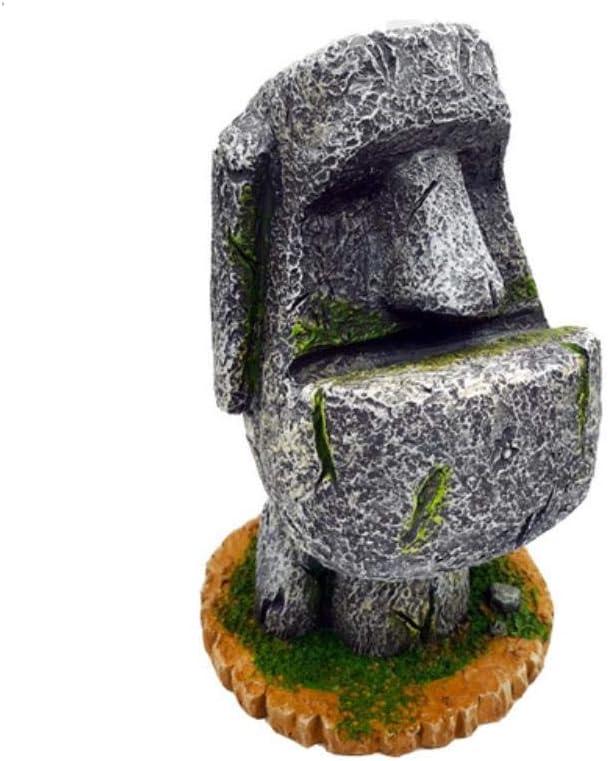 Statue Scultura Soprammobili Regalo Ritratto Vaso Di Fiori Statua In Pietra Festival DellIsola Di Pasqua Moai Portapenne Portapenne Scatola Di Immagazzinaggio Mestieri In Resina Ornamenti Decorativi