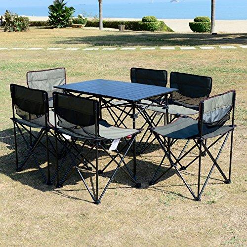 MCCOutdoor-klappbare Möbel Picknick Tisch tragbare BBQ Picknick camping Auto stall, Tisch und Stuhl Kombination Kit