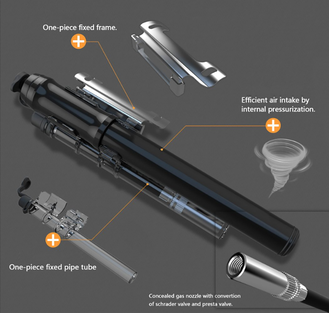 Fansport Bicycle Pump Portable Bike Pump Mini Practical Bike Inflator Hand Pump Bicycle Air Pump by Fansport (Image #3)
