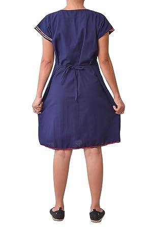 8a98706e8d85 virblatt vestito corto come vestiti boho chic abbigliamento vintage -  Aufregend bl  Amazon.it  Abbigliamento