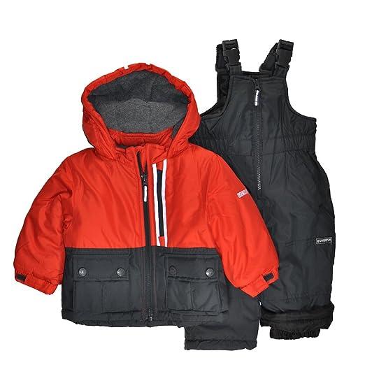 4a2078bc1b06 Amazon.com  OshKosh B Gosh Osh Kosh Baby Boys Ski Jacket and Snowbib ...