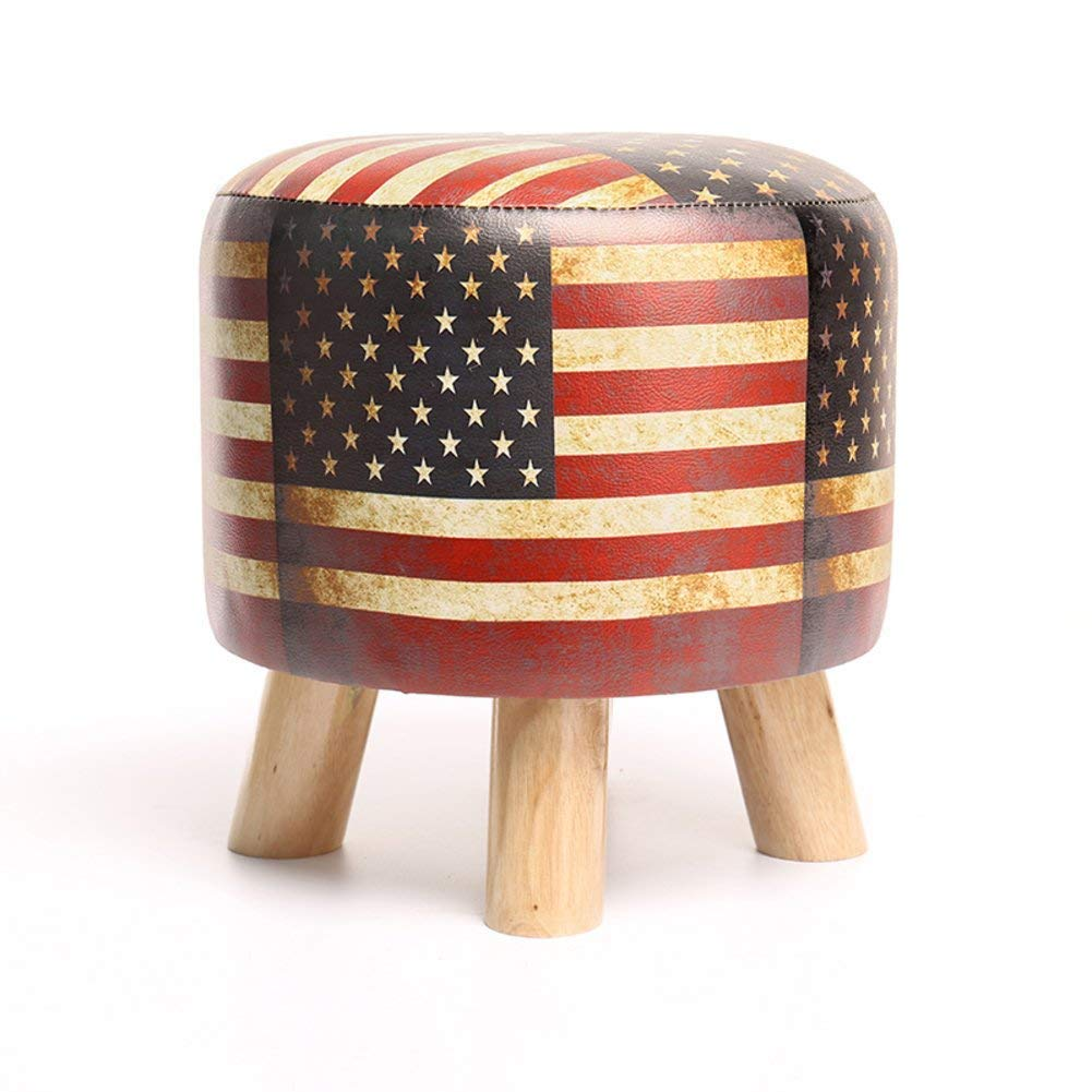 JYKJ Sofa Stool Wooden Footstool, Home Stool Creative Adult Solid Wood Shoes Bench Home Change Shoes Stool (Pattern : B)