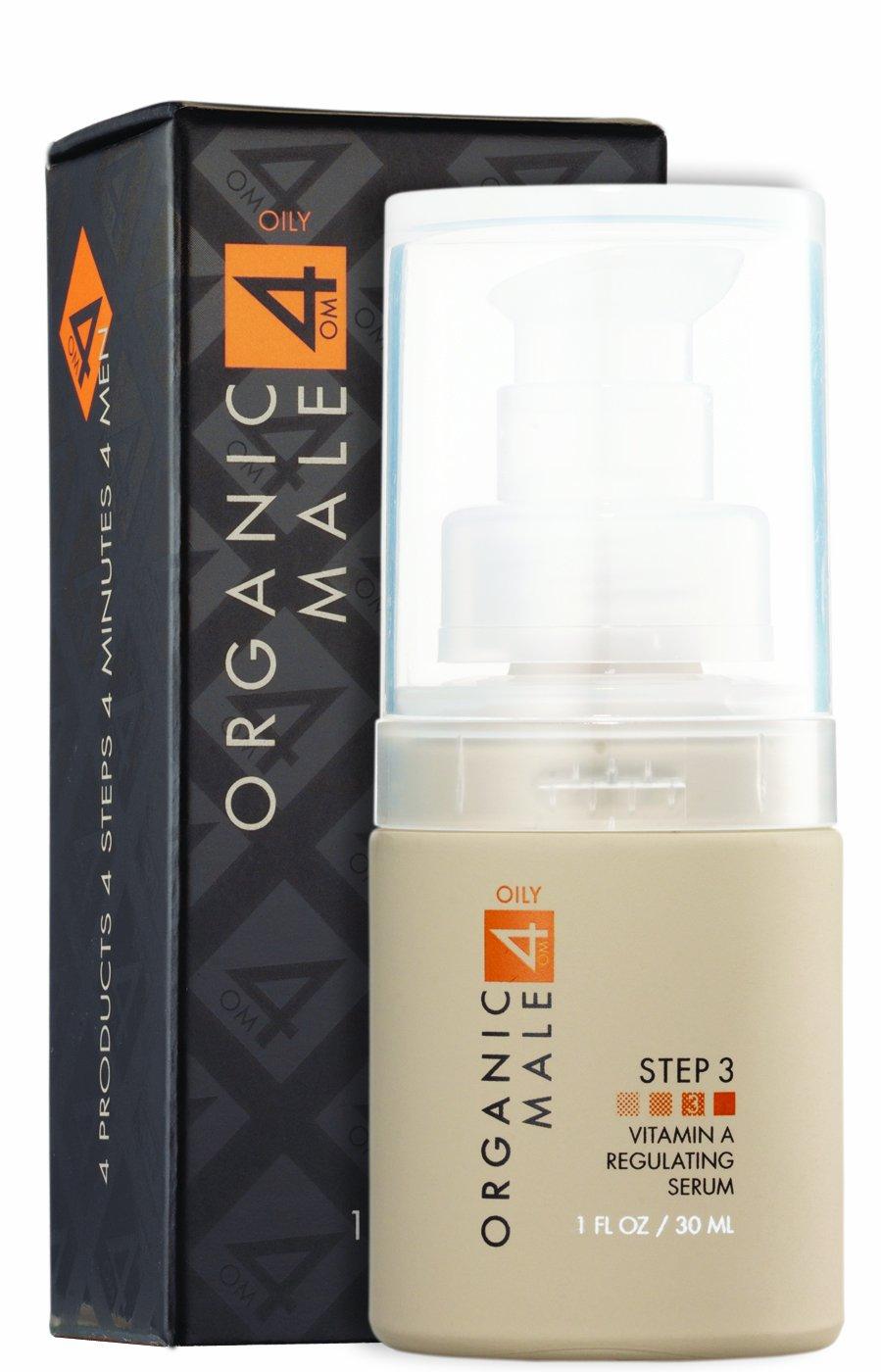 Organic Male OM4 Oily Step 3: Vitamin A Regulating Serum (1.0 oz) Organic & Natural Serum for Oily Skin Types