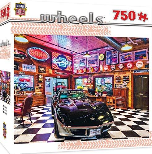 MasterPieces Wheels Black Beauty - Corvette 750 Piece Jigsaw Puzzle by Linda Berman